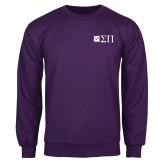 Purple Fleece Crew-Horizontal Logomark w/Letters
