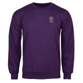 Purple Fleece Crew-Crest