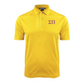 Gold Dry Mesh Polo-Greek Letters