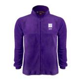 Fleece Full Zip Purple Jacket-Vertical Logomark w/Letters