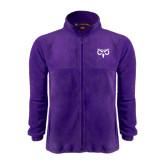 Fleece Full Zip Purple Jacket-Icon