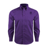 Red House Purple Long Sleeve Shirt-Vertical Logomark w/Letters