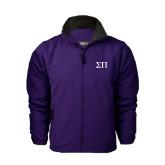 Purple Survivor Jacket-Greek Letters
