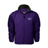 Purple Survivor Jacket-Greek Letters Two Tone