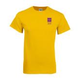 Gold T Shirt-Vertical Logomark w/Letters