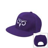 Purple Twill Flat Bill Snapback Hat-Icon