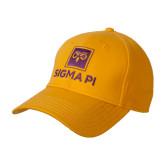 Gold Heavyweight Twill Pro Style Hat-Vertical Logomark w/Text