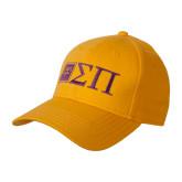 Gold Heavyweight Twill Pro Style Hat-Horizontal Logomark w/Letters