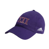 Adidas Purple Slouch Unstructured Low Profile Hat-Greek Letters Two Tone