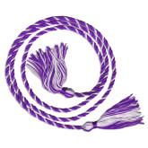 Purple/White Graduation Honor Cord-