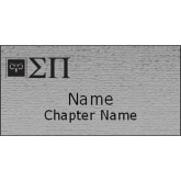 Brushed Silver w/ Black Name Badge-Horizontal Logomark w/Letters Engraved