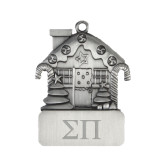 Pewter House Ornament-Greek Letters Engraved