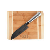 Oneida Cutting Board and Santoku Knife Set-Greek Letters Engraved