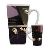 Full Color Latte Mug 17oz-Sigma Pi Badges Image