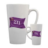 Full Color Latte Mug 17oz-Sigma Pi Waving Flag Image