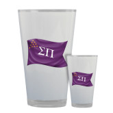 Full Color Glass 17oz-Sigma Pi Waving Flag Image