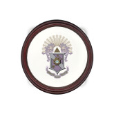 Round Coaster Frame w/Insert-Crest