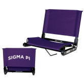 Stadium Chair Purple-Arched Sigma Pi