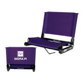 Stadium Chair Purple-Vertical Logomark w/Text