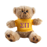Plush Big Paw 8 1/2 inch Brown Bear w/Gold Shirt-Greek Letters