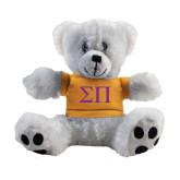 Plush Big Paw 8 1/2 inch White Bear w/Gold Shirt-Greek Letters