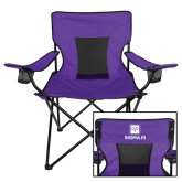 Deluxe Purple Captains Chair-Vertical Logomark w/Text