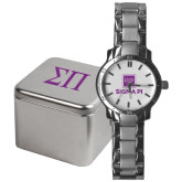 Mens Stainless Steel Fashion Watch-Vertical Logomark w/Text