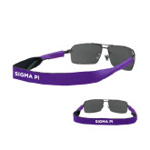 Croakies Purple Thin Band Sunglasses Strap-Sigma Pi