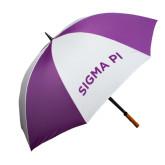 64 Inch Purple/White Umbrella-Arched Sigma Pi