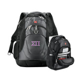 Wenger Swiss Army Tech Charcoal Compu Backpack-Greek Letters Two Tone