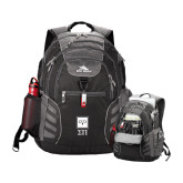 High Sierra Big Wig Black Compu Backpack-Vertical Logomark w/Letters