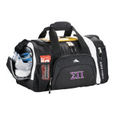 High Sierra Black 22 Inch Garrett Sport Duffel-Greek Letters Two Tone