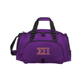 Challenger Team Purple Sport Bag-Greek Letters Two Tone