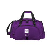 Challenger Team Purple Sport Bag-Vertical Logomark w/Letters