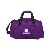 Challenger Team Purple Sport Bag-Vertical Logomark w/Text