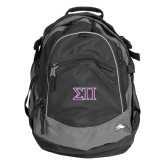 High Sierra Black Fat Boy Day Pack-Greek Letters Two Tone