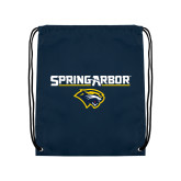 Navy Drawstring Backpack-Spring Arbor with Head
