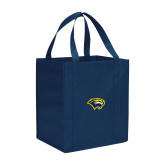 Non Woven Navy Grocery Tote-Cougar Head
