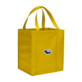 Non Woven Gold Grocery Tote-Cougar Head