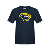 Youth Navy T Shirt-Cougar Head