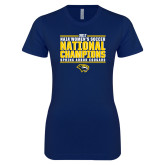 Next Level Ladies SoftStyle Junior Fitted Navy Tee-Cougar Womens Soccer Champions