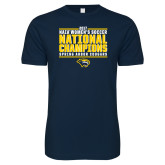 Next Level SoftStyle Navy T Shirt-Cougar Womens Soccer Champions