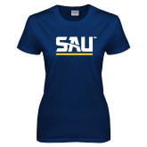 Ladies Navy T Shirt-SAU