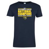 Ladies Navy T Shirt-Cougar Womens Soccer Champions
