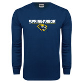 Navy Long Sleeve T Shirt-Spring Arbor with Head