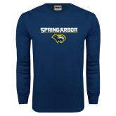 Navy Long Sleeve T Shirt-Spring Arbor with Head