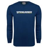 Navy Long Sleeve T Shirt-Spring Arbor