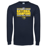 Navy Long Sleeve T Shirt-Cougar Womens Soccer Champions