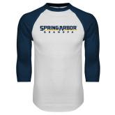 White/Navy Raglan Baseball T Shirt-Grandpa