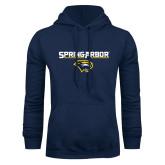 Navy Fleece Hoodie-Spring Arbor with Head